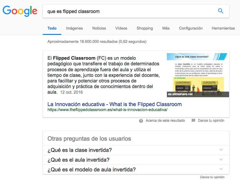 caja de respuestas de google
