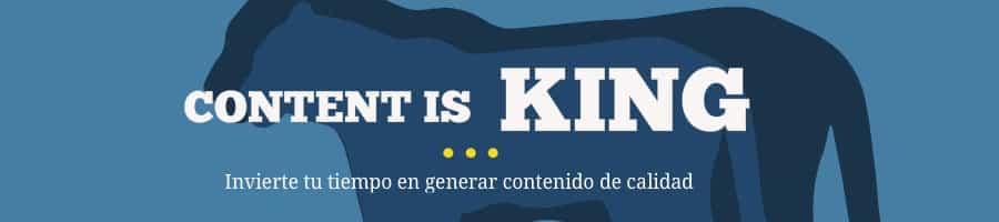 Content is King - Genera contenido de calidad para tu blog