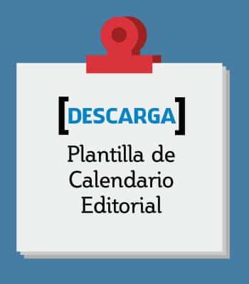 Plantilla calendario de publicación