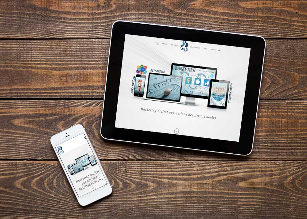 sitio web responsive - adaptado a móviles