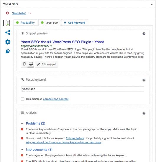Plugin Yoast SEO para wordpress
