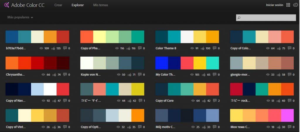 adobe color cc herramientas diseño web
