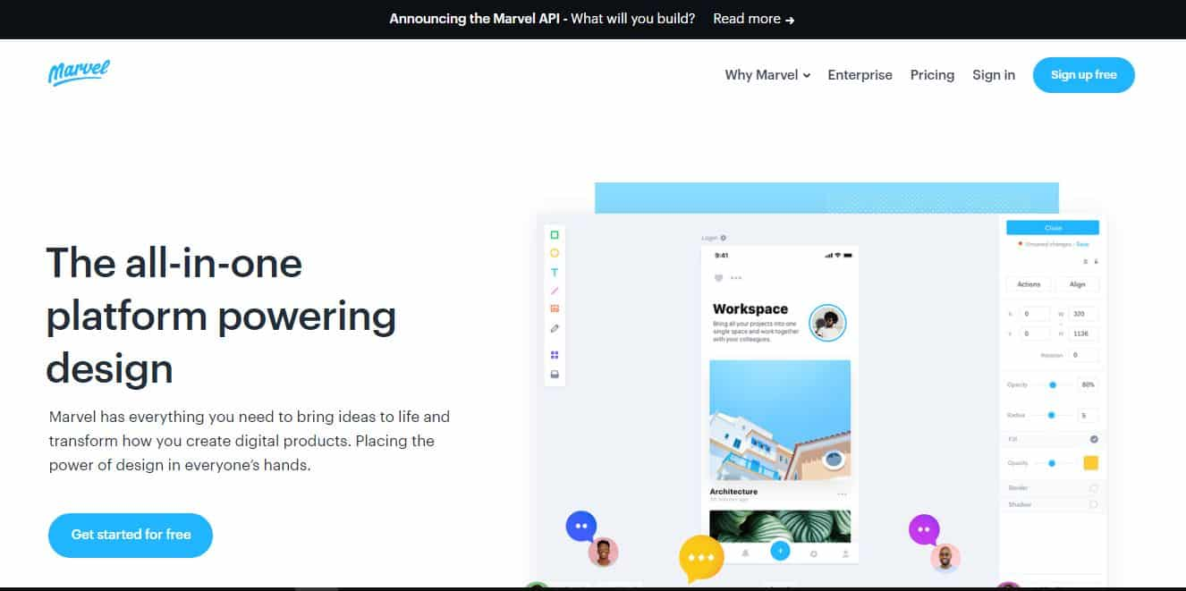 crear web con marvel