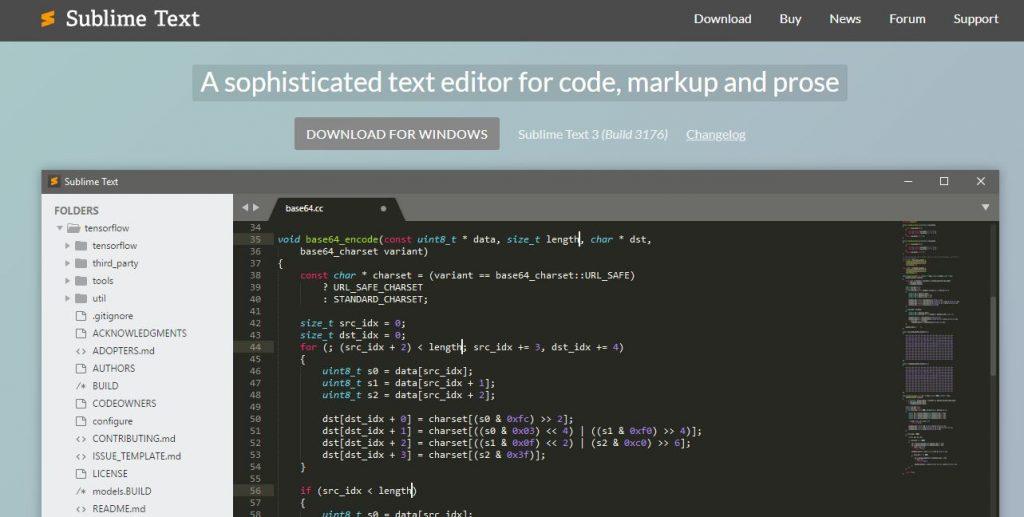 sublime text creador webs