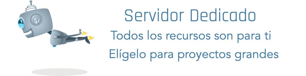 servidor dedicado - para grandes proyectos que requieran todos los recursos