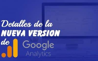 Detalles de la nueva versión de Analytics